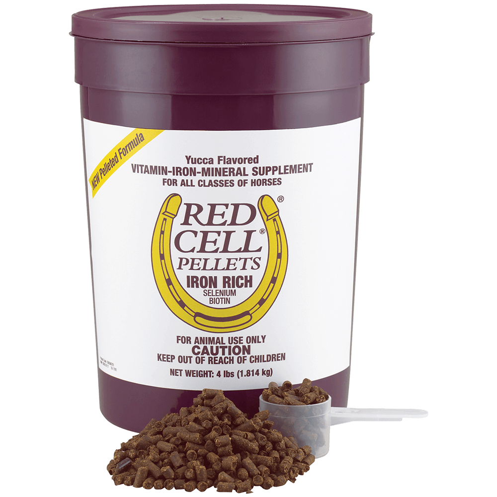 Red Cell Pellets: Iron/Vitamin/Mineral Supplements for Horses